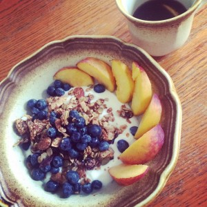 Delicious Granola with yogurt and fruit!